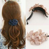 Compre 2 = 2 +1 cabelo acessório flor hairpin garra clipe cavalinha clipe de banana grampo de cabelo