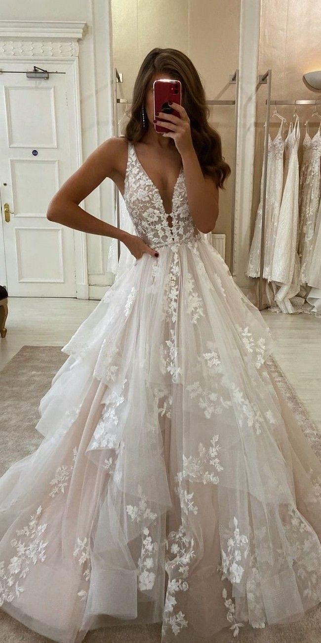 Boho Hochzeitskleid von Chiffon französische Spitze Boho-Stil