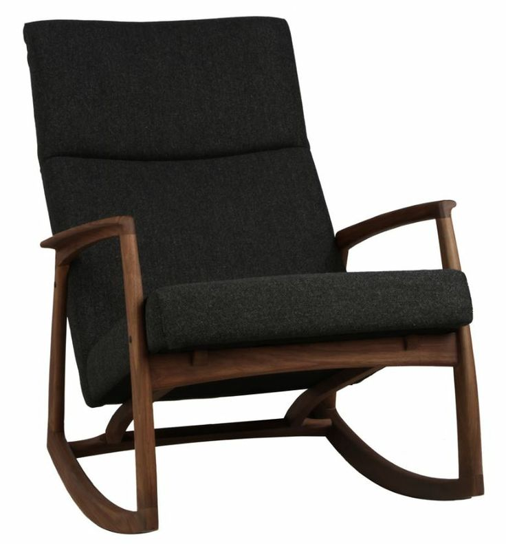 Edvard Danish Design Rocking Chair Walnut/Dark Grey