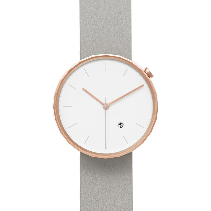 The new Chi and Chi Polygon watch features an elegant rose gold case emphasised by a chic muted grey strap. #rosegold #watches