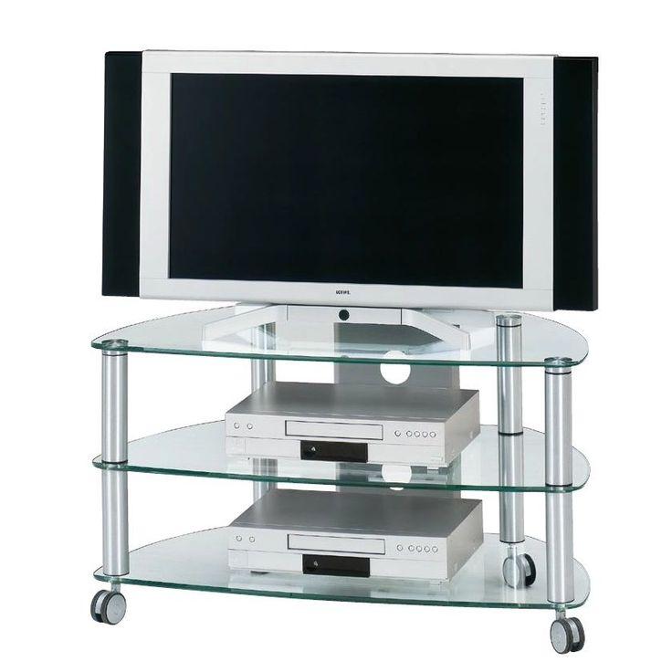 Beautiful TV Rack CU SR Aluminium Klarglas cm Jahnke Jetzt bestellen unter https moebel ladendirekt de wohnzimmer tv hifi moebel tv racks uid ud