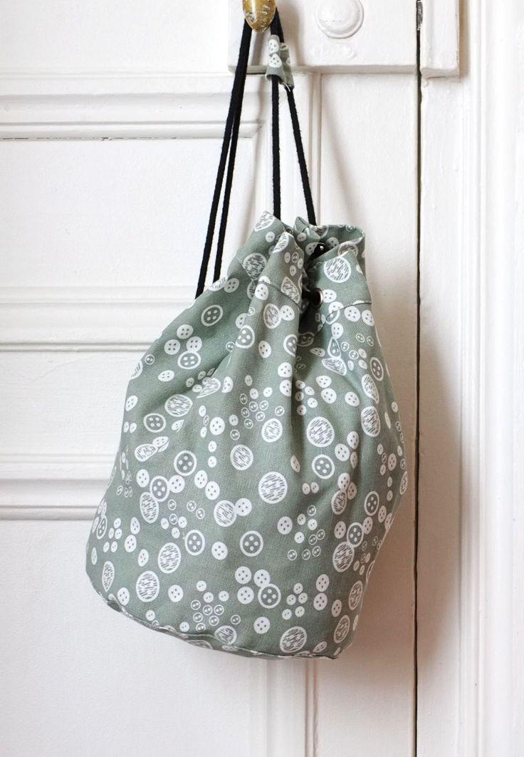 FABRiKO, sailor bag, buttons green