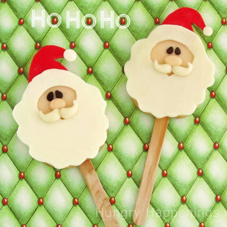 ... : Twelve days of sweet designs, day 5 - Santa Claus Cookie Pops