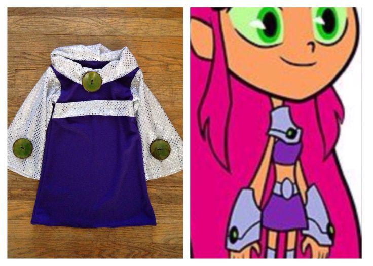 Little girl's Starfire Halloween costume