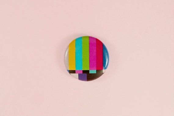 1 tv test button by astropuke on Etsy