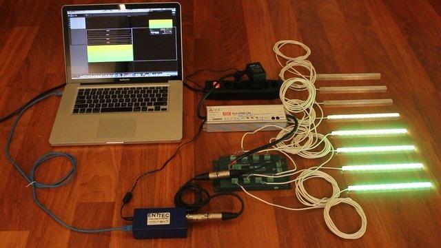 LED strips VU-meter test on Vimeo