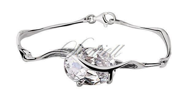 Srebrna bransoletka pr.925 Cyrkonia biała - Biżuteria srebrna dla każdego tania w sklepie internetowym Rejel