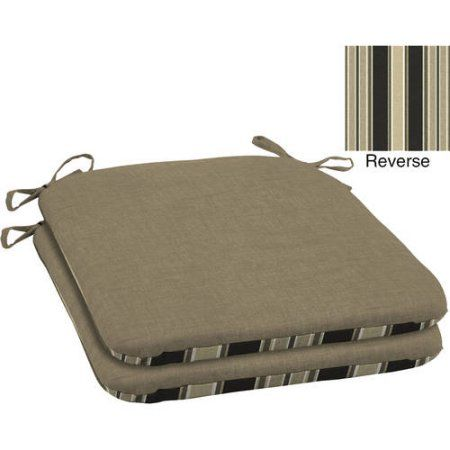 Selections by Arden Outdoor Patio Wrought Iron Seat Pad, Set of 2, Beige