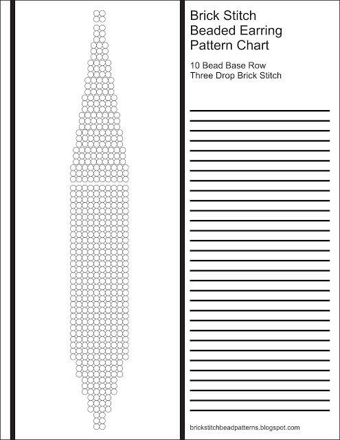 brick stitch bead patterns journal  10 bead base row 3