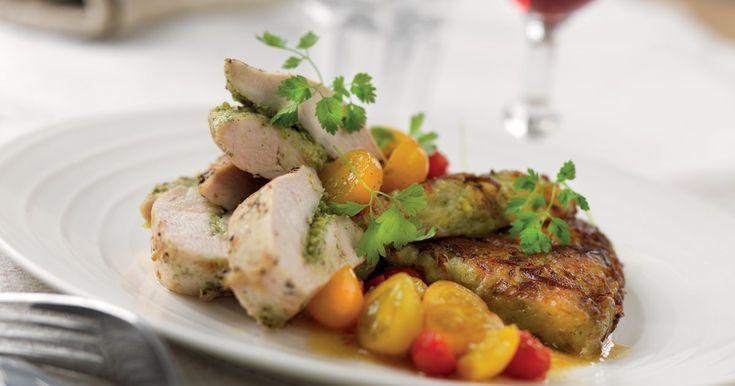 Parmesanfylld kyckling med potatiskaka   Recept från Santa Maria