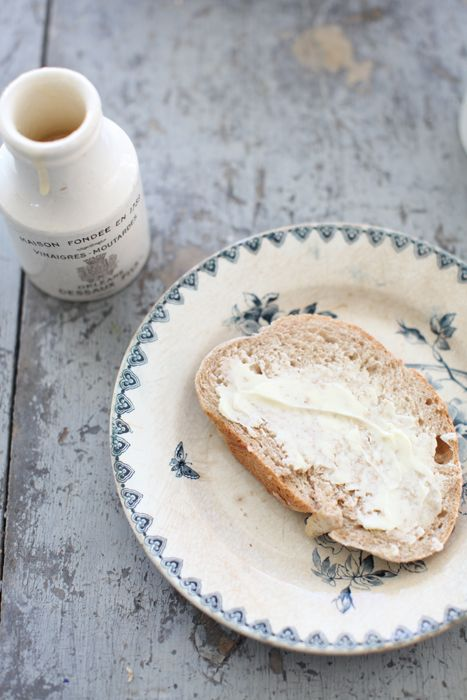 Dreamy Whites: A French Bread Recipe, An Antique French Dish Drying Rack, and French Farmhouse Antiques in the Kitchen