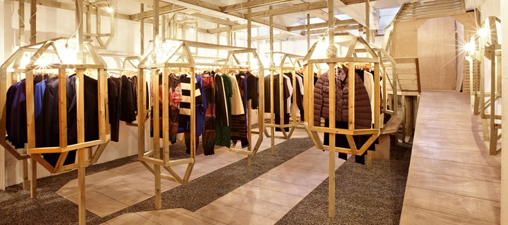 Once again, the renovated LN-CC store in London, of which the original store was chosen by the Design Museum as one of their 'Designs of the Year' in 2012. Definitely fashion forward.