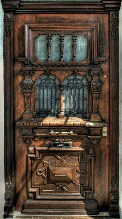 Old wood carved door ~ BEAUTIFUL ~!!!