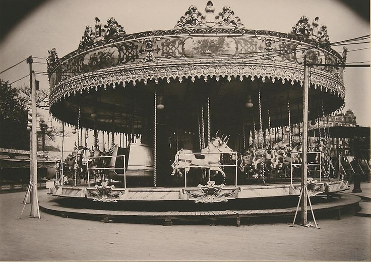Victorian Carousel....horse...cows...love... Eugene Atget-photo