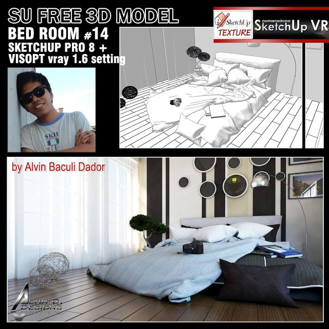 SKETCHUP TEXTURE: FREE 3D MODEL BED ROOM #14 AND VISOPT