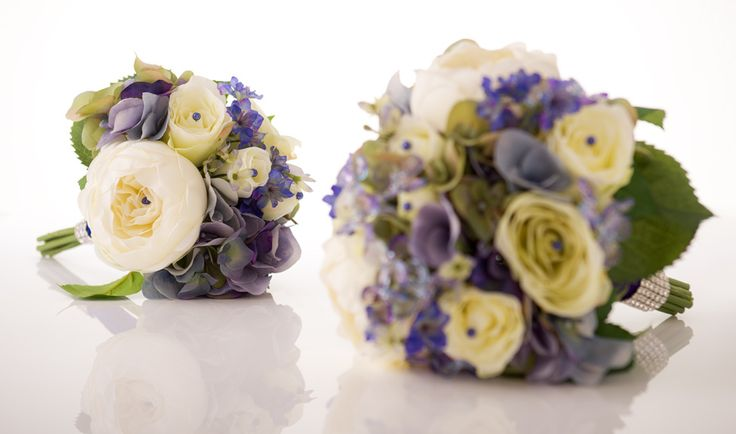 """Gorgeous """"Something Blue"""" Wedding Bouquet is Available in Two Sizes"""