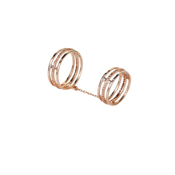 Victoria Falls Ring Rose Gold   Tada & Toy   Wolf & Badger