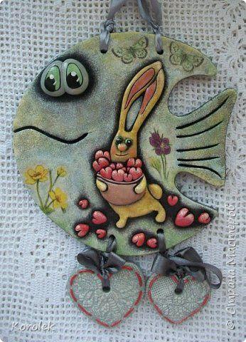 Картина панно рисунок Лепка Рыбка и панно из соленого теста Тесто соленое фото 4