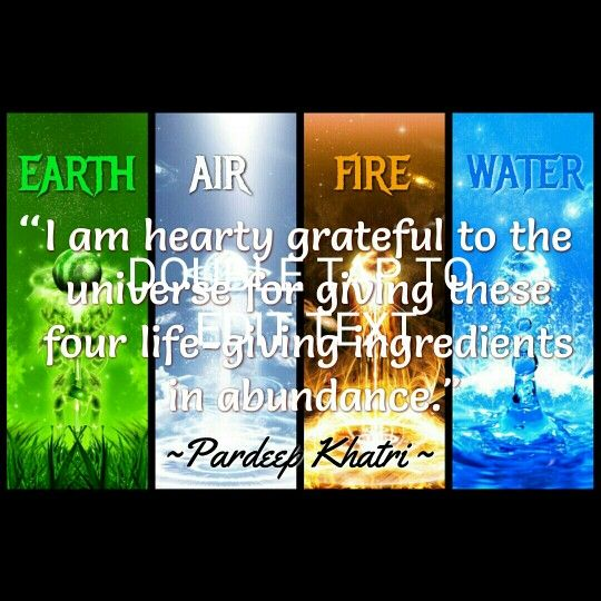 Earth Air Fire Water