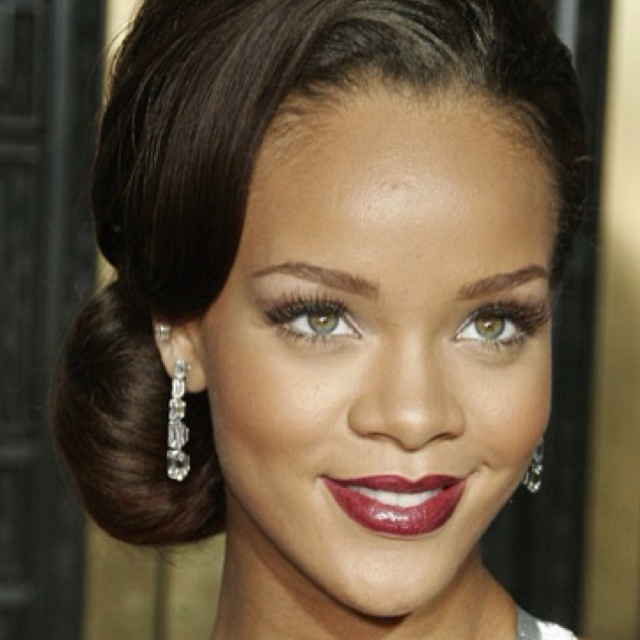 Rihanna Black Female With Green Eyes Natural Or