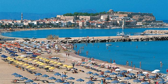 Koumbes Beach in Rethimno, Crete