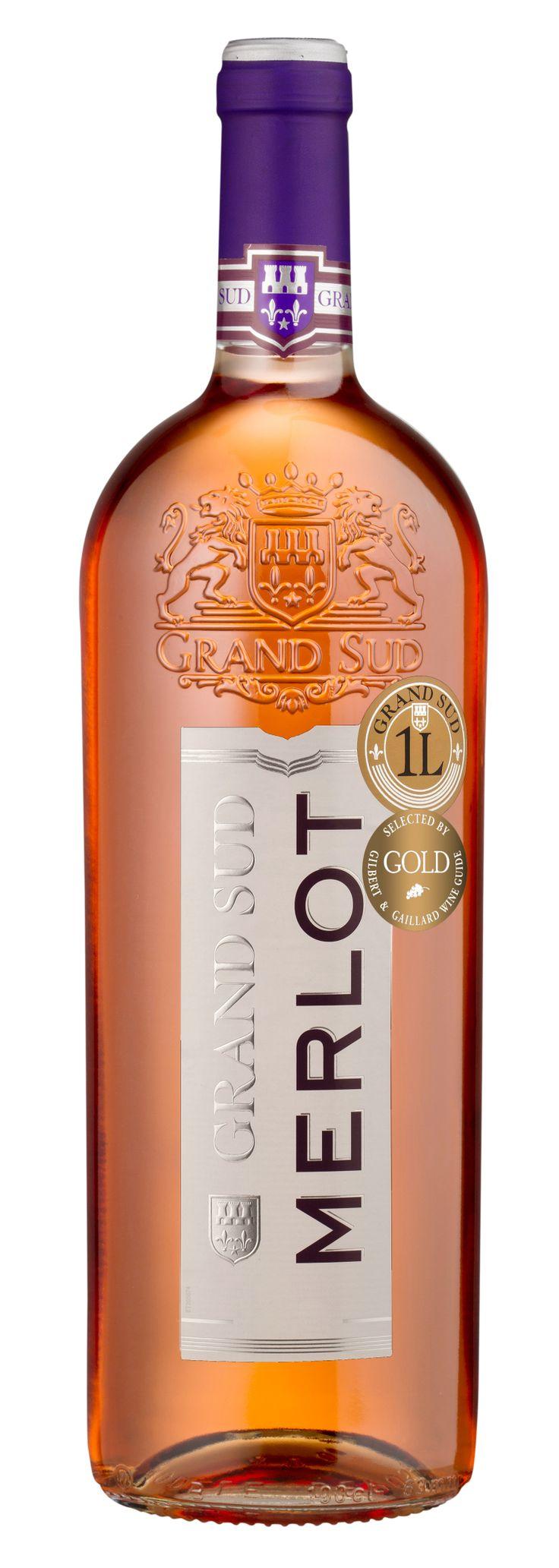 Ce #vin peut être apprécié seul en apéritif ou en accompagnement de salades estivales, grillades ou fromage doux. #Merlot #GrandSud #2012