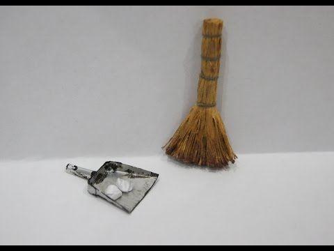 Школа кукольного мастерства Елены Лаврентьевой: Видеоурок: веник и совок в миниатюре