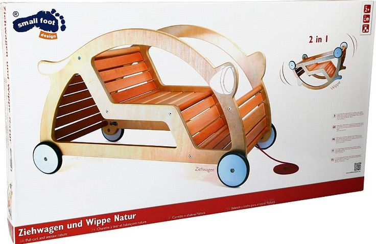 Naturholz Kinderwippe Wippe Babywippe Ziehwagen Schaukel Wagen Multifunktion NEU kaufen bei Hood.de