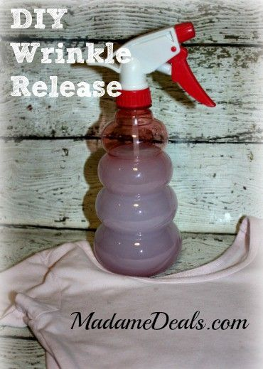 Save some money by making your own DIY Wrinkle Release Spray!