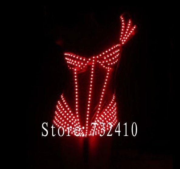 Hot-selling slim bodysuit female singer ds luminous led clothes. www.aliexpress.com/store/732410