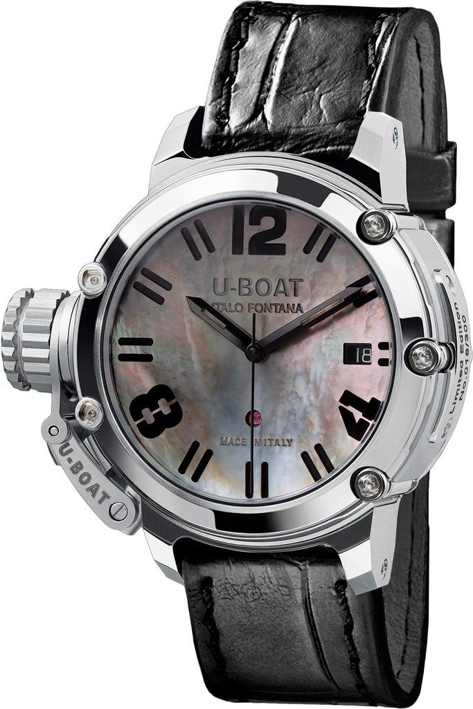 U-Boat Watch Chimera SS MOP Limited Edition #add-content #basel-17 #bezel-fixed #bracelet-strap-alligator #brand-u-boat #case-material-steel #case-width-40mm #date-yes #delivery-timescale-call-us #dial-colour-white #gender-mens #limited-edition-yes #luxur