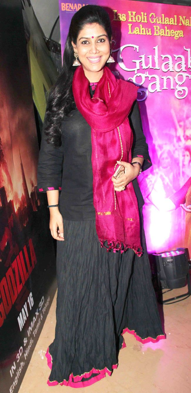 Sakshi Tanwar at a special screening of 'Gulaab Gang' #Style #Bollywood #Fashion #Beauty