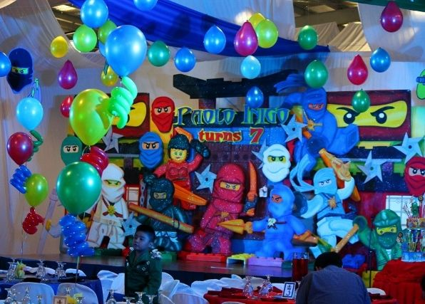 Lego ninjago party decorations party ideas pinterest for Decoration ideas 7th birthday party
