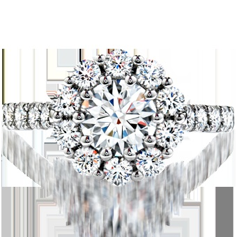Beloved Engagement Ring - Diamond Band, Hearts on Fire