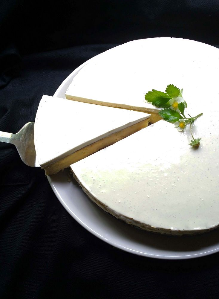 My Luscious Low-Carb, Sugar-Free Vanilla Cheesecake with a Nut Crust # ...