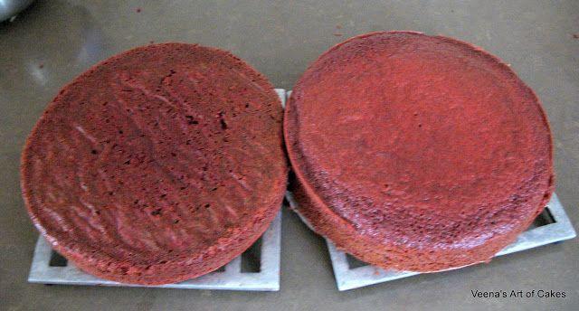 Veena Art Of Cake Fondant Recipe : Veena s Art of Cakes: Red Velvet Cake Recipe Baked ...