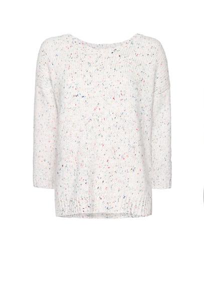 MANGO - Buttons flecked jumper