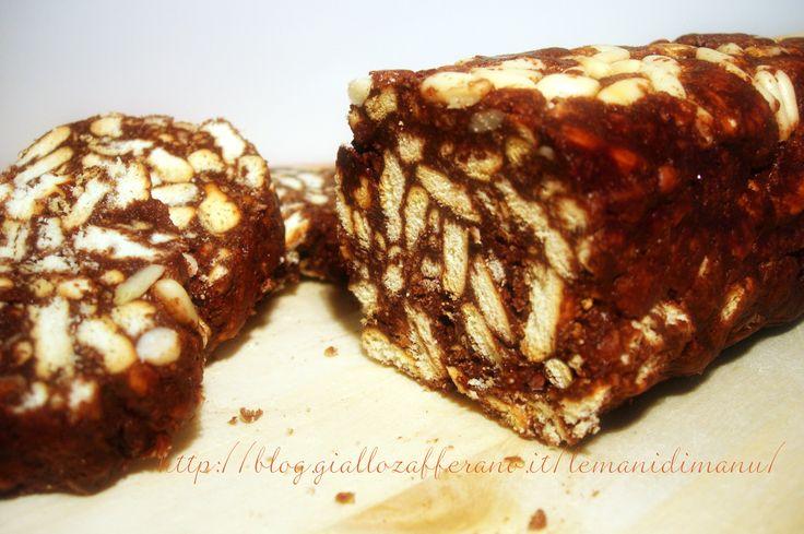 Salame di cioccolato, Ricetta dolce senza cottura