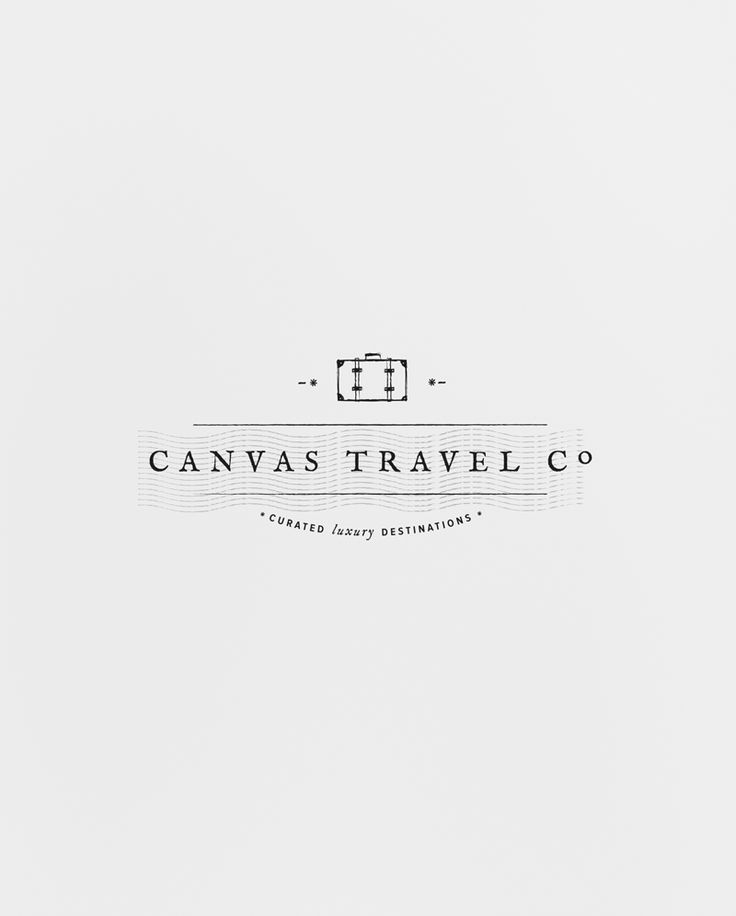 Canvas Travel Co. logo. I love that little suitcase, it's so simple but adds a touch of personality to an otherwise plain logo.