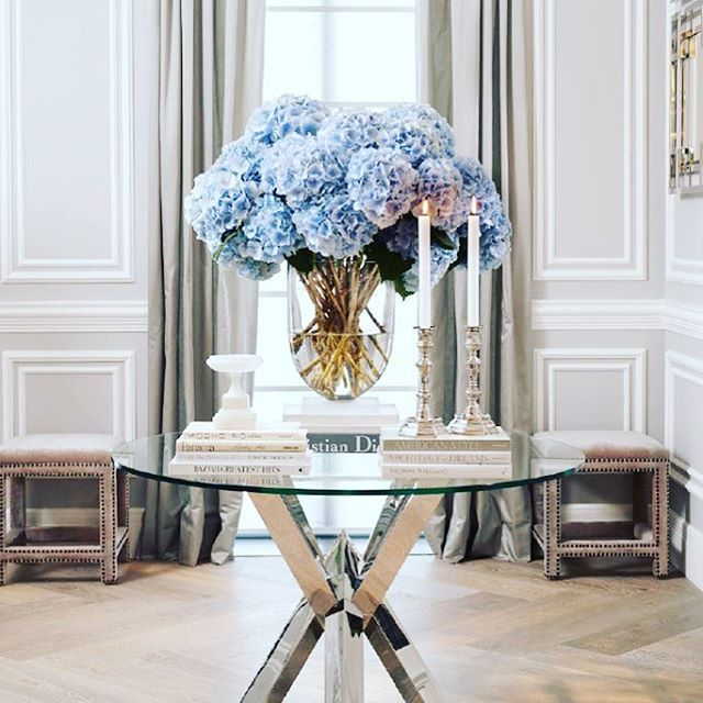 "{ 2 0 1 7 T R E N D S }  Glamorous wall panelling or ""Wainscoting"" for our American followers, is right on trend!  Take a look at the Ritz Paris and the newly renovated Chanel Stores and you will know why we should take notice.  Designed in the right proportions your room can look  like the ""pièce de résistance"". Thank you to @worldofeichholtz (whose divine pieces we can supply) for the gorgeous inspiration. xxx"