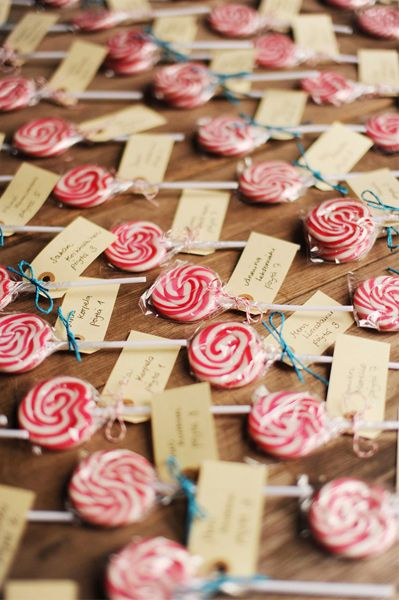 Lollypop Seating Cards