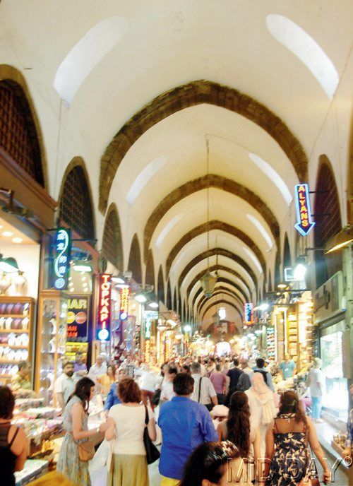 The famous Spice Market of Istanbul is known for its traditional teas and spices. #Travel #Turkey