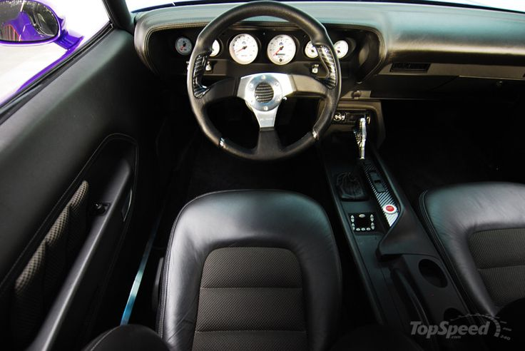 1970 Plymouth Cuda Custom Interior Console Auto