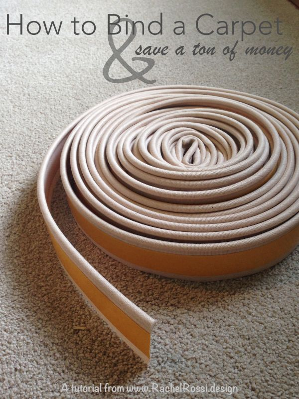 A full tutorial and instructions (with pictures) on how to DIY bind a carpet remnant.