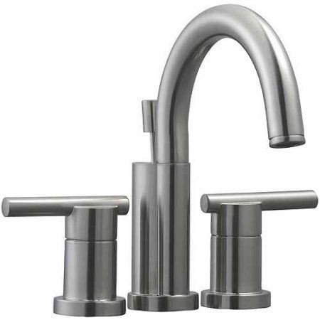 Design House 525758 Geneva 4 inch Lavatory Faucet, Satin Nickel Finish, Gray