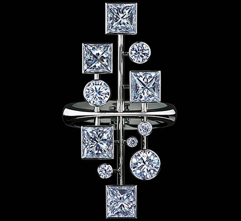 Jewellery Theatre - EQUILIBRIUM Collection - RING,18k white gold and diamonds