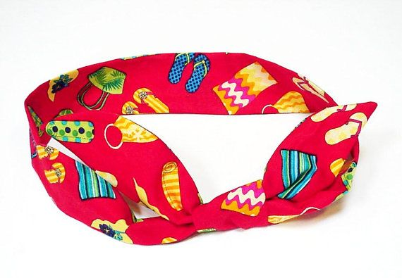Gel Cooling Headband  Tropical Hawaiian Neck Cooler by iycbrand, $9.99