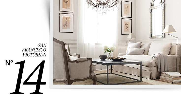 Rooms   Restoration Hardware - I LOVE, LOVE, LOVE RH! A person can dream, I guess. :)