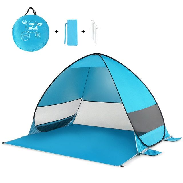 Portable Camping Tent Automatic Pop Up Beach Tent Cabana Upf 50 Sun Shelter Outdoor Tent Fishing Hiking Canopy Awning Review With Images Pop Up Beach Tent Beach Tent Outdoor Tent