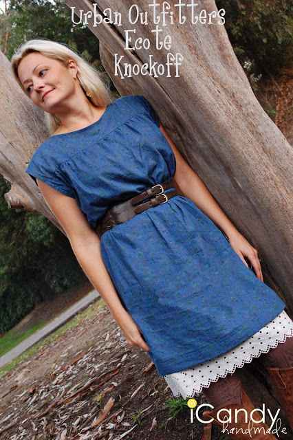 Urban Outfitters Ecote Dress Knockoff Pattern. This pattern is a size 6, but it is easily resized.